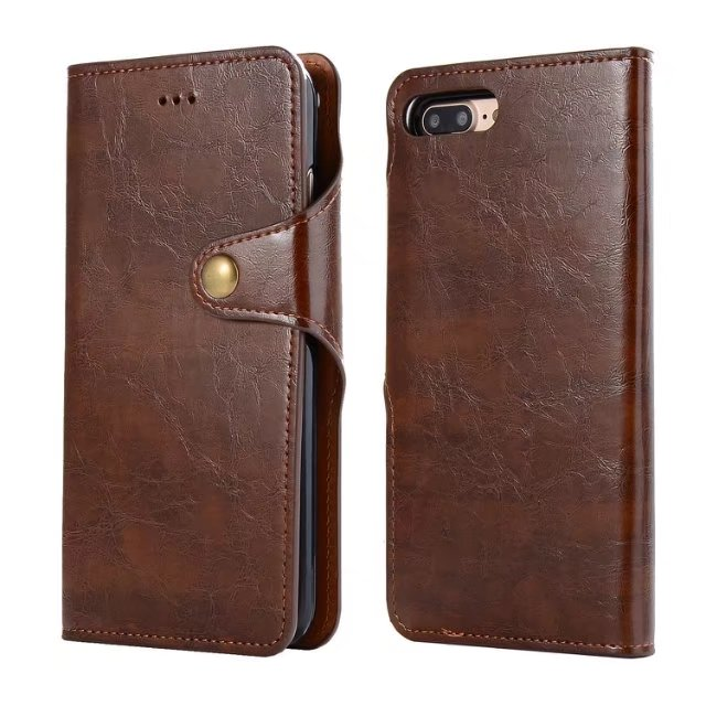 2 in 1 Crazy Horse Leather Flip Case For iPhoneX 8 8Plus PU Leather Flip Cover For iPhone7 6s Plus With Card Slot For Note8 S8