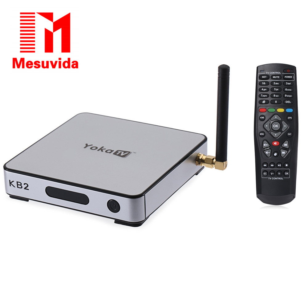 Prix pour Mesuvida YOKA KB2 Android TV Box Amlogic S912 Octa Core Double bande WiFi Bluetooth 4.0 2G DDR3 RAM 32G eMMC ROM KD 17.0