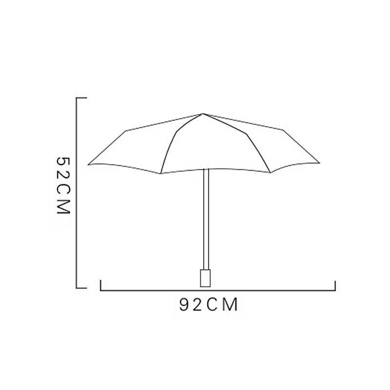 Payung Hujan Wanita Pocket Heart Automatic Payung Hujan Wanita Jantung Cetak Anti UV Tiga Folding Renda Payung Ombrello Mini XX
