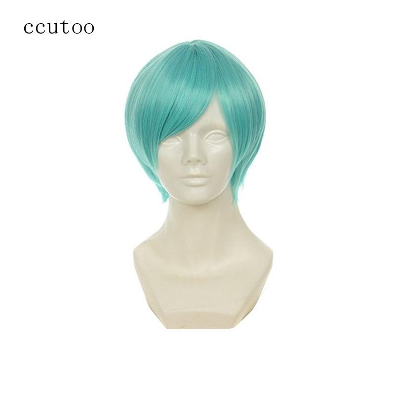 ccutoo 12 Short Blue Mix Straight Synthetic Hair The Sword Dance Touken Ranbu Ichigo Hitofuri Cosplay Full Wig