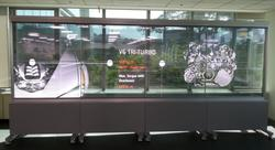 Пользовательский размер сенсорного интерактивные CCTV OLED прозрачный монитор цифрового видео стены