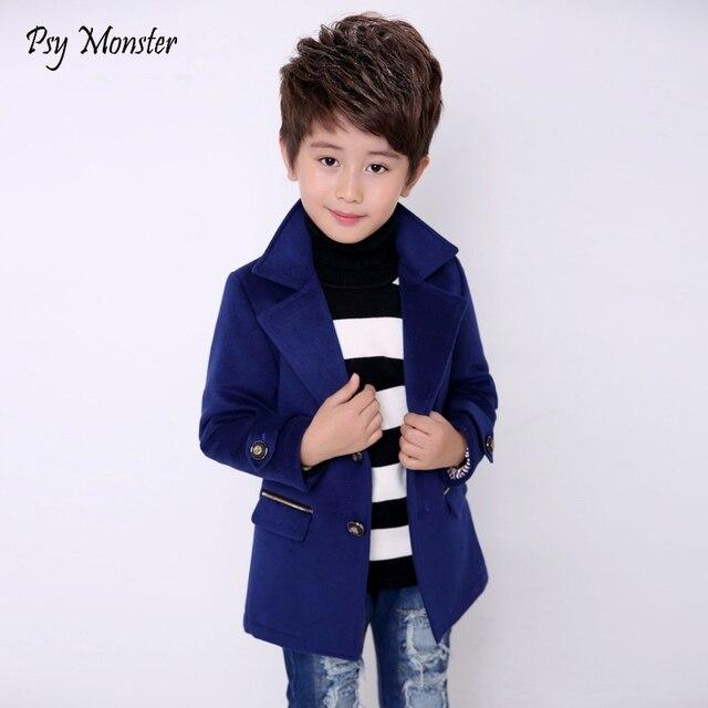 382d8d50e Kids jacket Wool Coat For Boys Woolen Outerwear Boys Winter Jacket ...