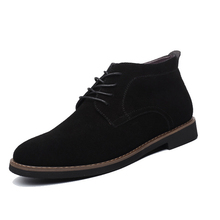 Mens boots winter shoes large size 45 suede ankle desert boots warm fur shoes winter chelsea boots snow boots zapatos hombre