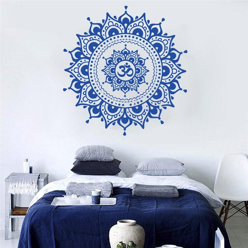 Wallpaper Designs For Bedroom Indian: Wallpaper Sticker Modern DIY Mandala Flower Indian Bedroom