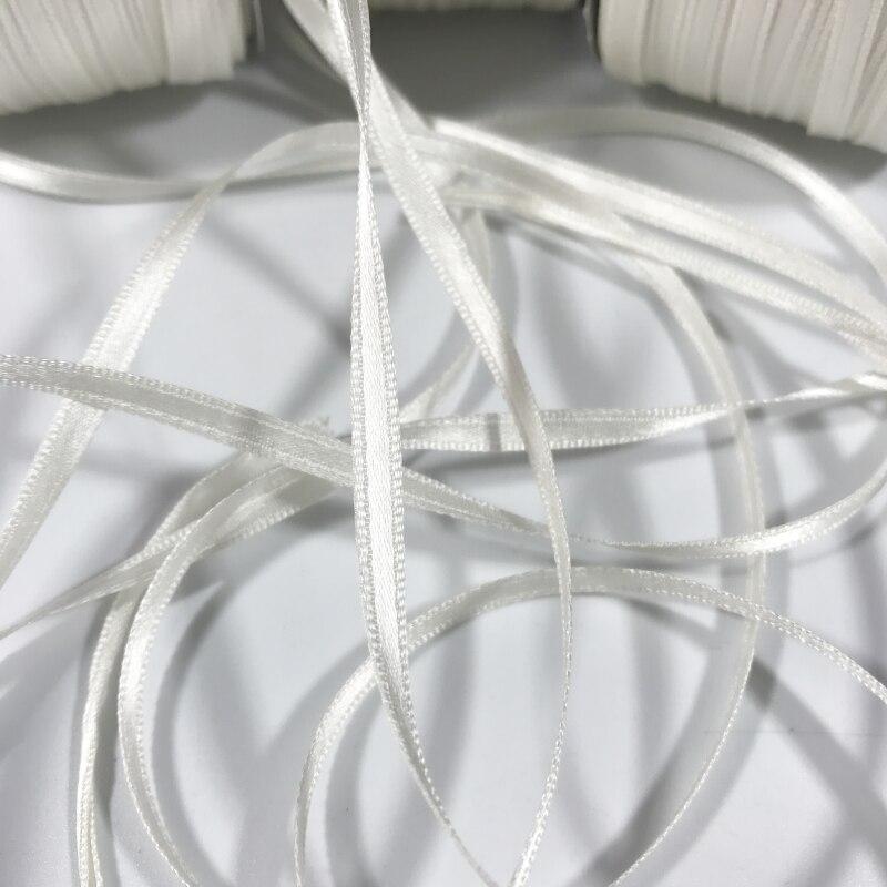 الأبيض حقيقية أفضل جودة الحرير الخالص مزدوجة الوجه الحرير شريط حرير في حجم 4/7/10/13/ 15/20/25/32/38/50 مللي متر شحن مجاني-في أشرطة من المنزل والحديقة على  مجموعة 2