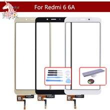 10pcs/lot For Xiaomi Redmi 6A Touch Screen Digitizer Panel Sensor Front Outer Glass Touchscreen NO LCD