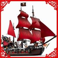 1151Pcs Building Block Compatible Legoe Toys Caribbean Pirates Queen Anne S Revenge LEPIN 16009 Brinquedos Gift