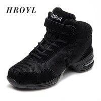 Дышащий женский, черный танец Спортивная обувь Pratice джаз хип поп Обувь для танцев спортивные Танцы Спортивная обувь B60 сетки/холст