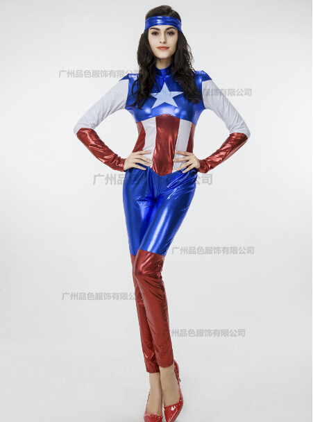 New Fancy Marvel Avengers Superhero Captain America Woman -7775