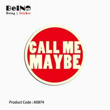 Call Me Maybe Warning Sticker Logo Sign Circle Waterproof Suitcase Laptop Guitar Luggage Skateboard Toy Lovely A0874 Stickers 31(China)