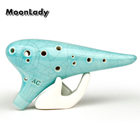 Alto C 12 Holes Ocarina Light Blue Special Music Instruments Chinese High Quality Woodwind Instrument Easy