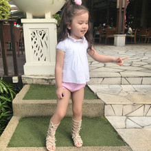 2019 Summer Baby Cotton Clothes Toddle Girl Cotton Shirt+pants Set Spanish Baby Girls  Quality Clothes Boutique Kids Clothing 6p510 wholesale baby kids boutique clothing lots