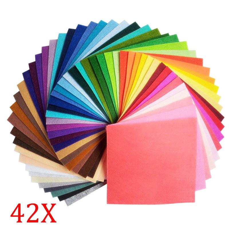 42 stücke artcrafts diy bunte filz stoff 1mm dicke tuch filze diy bundle für nähen puppen handwerk 20x30 cm 2016