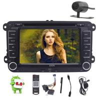 7'' Android6.0 Head Unit Double Din Car DVD Player Stereo Radio Bluetooth GPS 4G/3G WiFi OBD2+External Mic/Camera/Remote Control