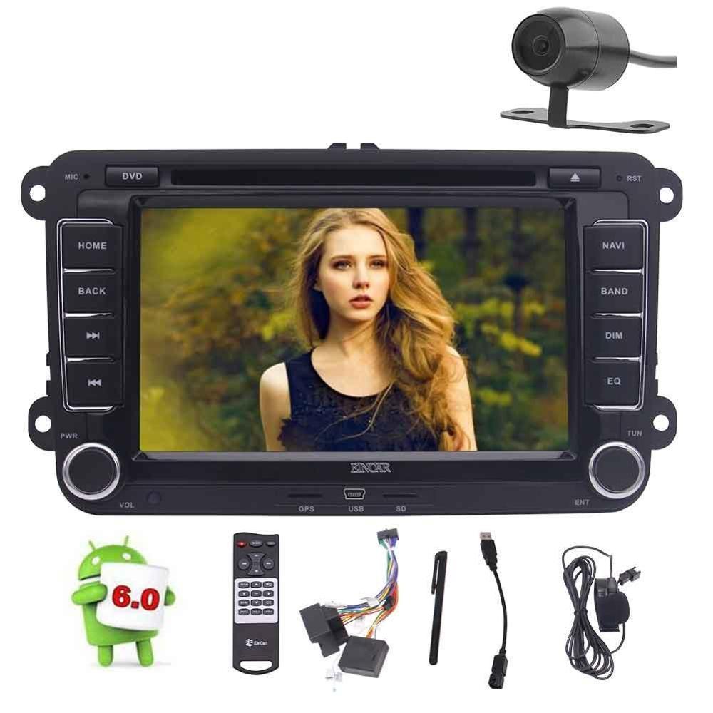 7 ''Android6.0 unité principale Double Din lecteur DVD de voiture stéréo Radio Bluetooth GPS 4G/3G WiFi OBD2 + micro externe/caméra/télécommande