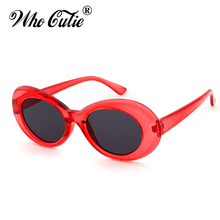 WHO CUTIE 2018 Clout Goggles Men Women Vintage Retro Neff Small Oval Tint Male Sunglasses NIRVANA Kurt Cobain Sun Glasses 421B