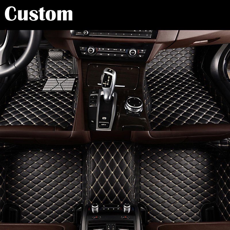 Custom fit car floor mats pu for ford Edge Escape Kuga Fusion Mondeo Ecosport Explorer Focus Fiest 3D car styling carpet liner for mazda cx 5 cx5 2nd gen 2017 2018 interior custom car styling waterproof full set trunk cargo liner mats tray protector