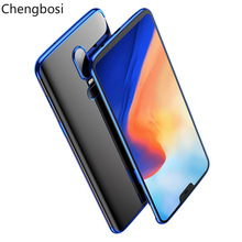 hot deal buy plating soft tpu cases for oneplus 6 6t 5 5t solid color mobile phone accessories back cover shell ultra thin cover fitted case