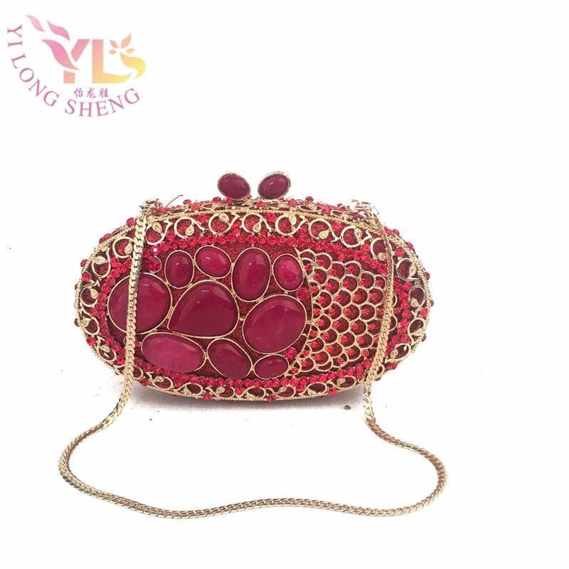 Dames délicates Turquosie Gem soirée pochette sac à main Designer soirée embrayages femmes Messenger sac à main sac à main YLS-J10