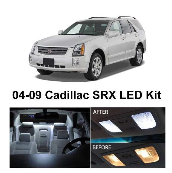 Ambitious Free Shipping 12pcs/lot Car-styling Xenon White Canbus Package Kit Led Interior Lights For Cadillac Srx 2004-2009 Quell Summer Thirst