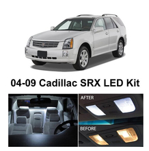 цена на Free Shipping 12Pcs/Lot car-styling Xenon White Canbus Package Kit LED Interior Lights For Cadillac SRX 2004-2009
