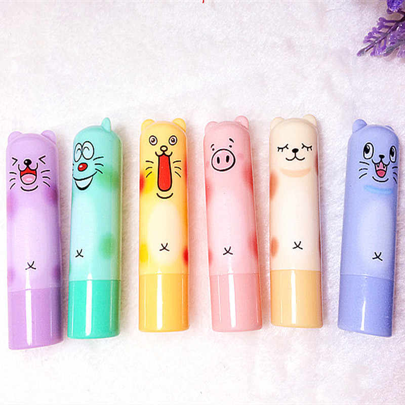 Moisturizing Colourless Cartoon Lip Balm Natural Plant Sphere Lip Gloss Fruit Embellish lipstick Makeup Tools