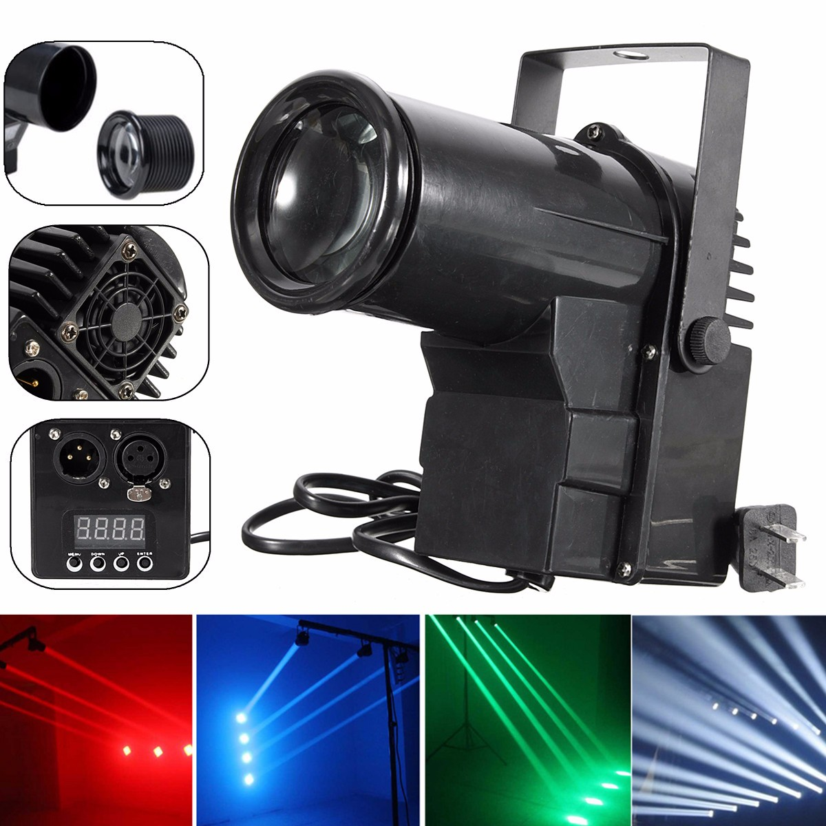 Disco Light 15W LED DMX Laser Projector Sound Controll Lamp DJ Party Stage Light Effect RGBW Lumiere Christmas Decoration