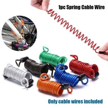 1 шт., 1 м/1,5 м/2,5 м, пружинный кабель для велосипеда, противоугонная веревочная сигнализация, дисковый замок для велосипеда, напоминание о безопасности, защита от кражи мотоцикла