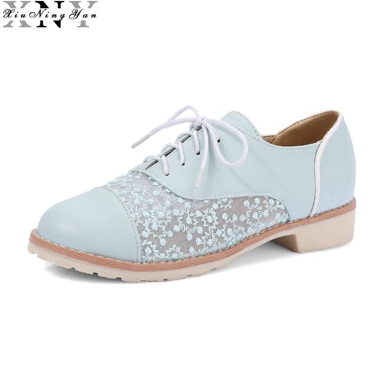 White Flat Oxford Shoes