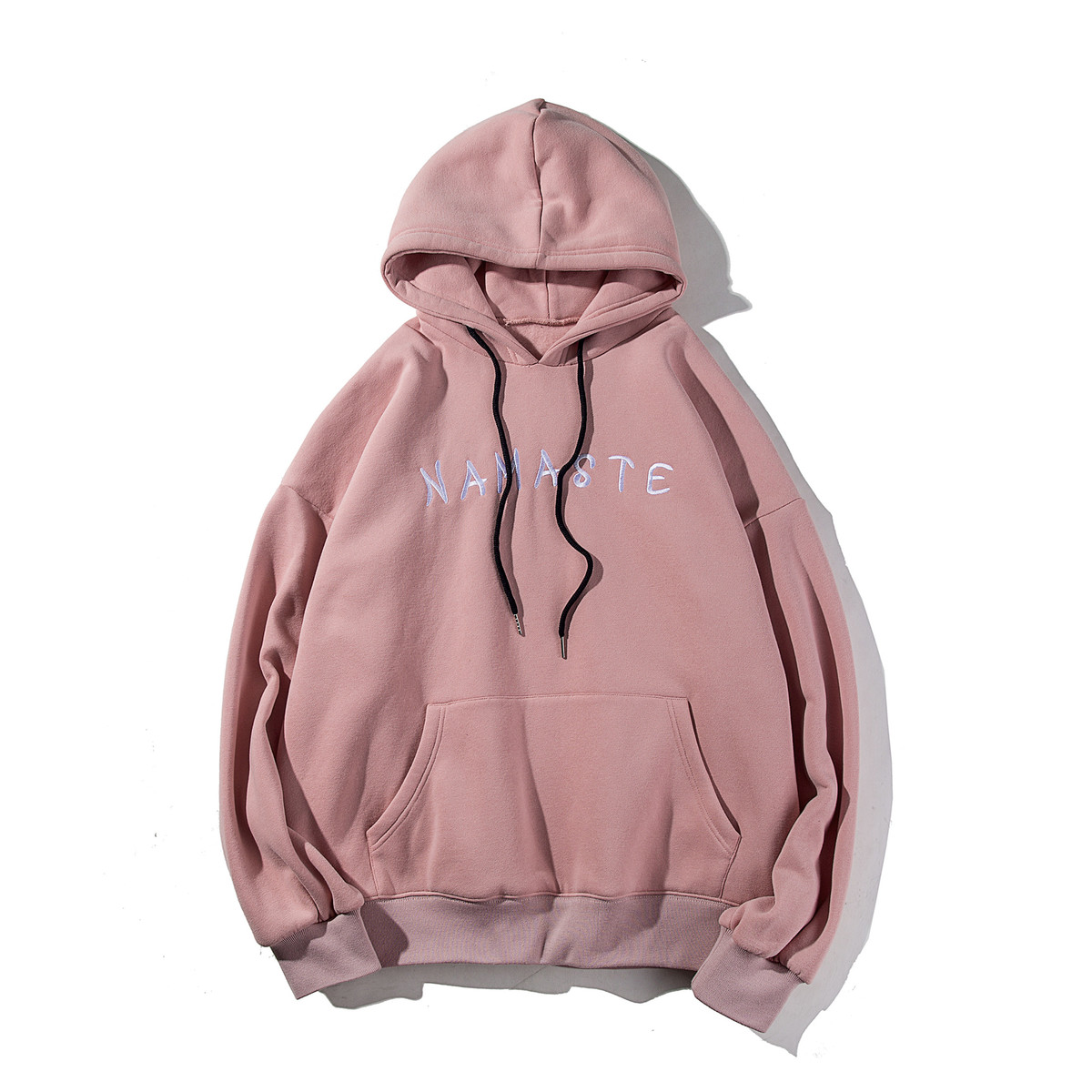 2018 Spring Japanese Preppy Style Casual Letter Kangaroo Pocket Embroidery Hat Loose Hoodies Pullover Clothes Sweatshirts Men in Hoodies amp Sweatshirts from Men 39 s Clothing