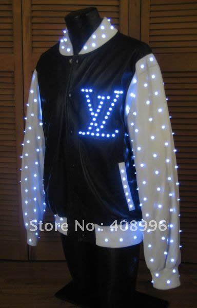 Led Luminous Jacket For Performance Glowing Clothes Light