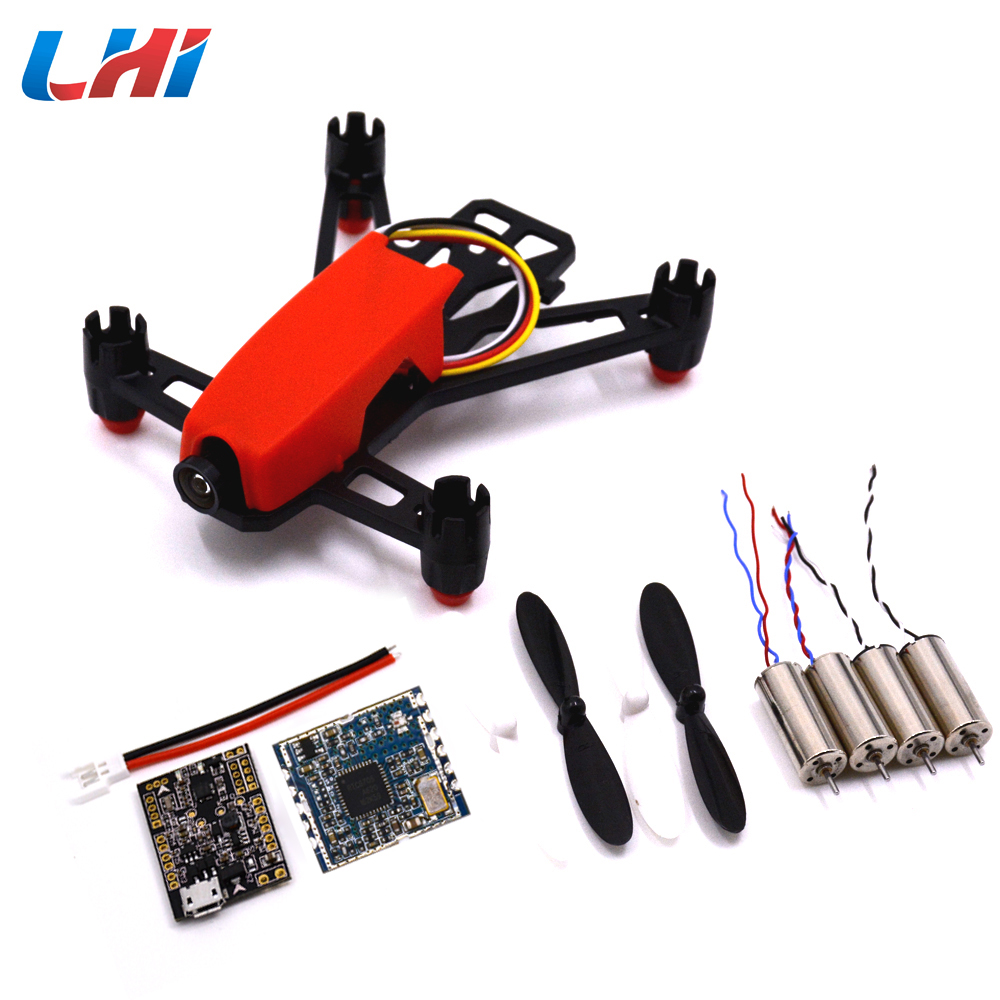 1set Q100 Super Mini FPV Racer Quadcopter DIY Indoor Kit Frame+4pcs 8520 motor +TX5813 Module+F3 EVO Flight Control Board diy fpv mini drone qav210 zmr210 race quadcopter full carbon frame kit naze32 emax 2204ii kv2300 motor bl12a esc run with 4s