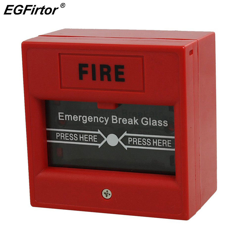 Fire Alarm Break Glass Manual Call Point MCP Pull Station Connect For Fire Alarm Bell Conventional Fire Alarm System Accessories
