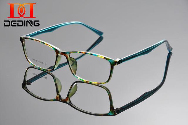 Deding das mulheres óculos quadros óculos de grau verde tartaruga 2016 nova Rx - capaz óculos quadro limpar Lens óculos DD1290