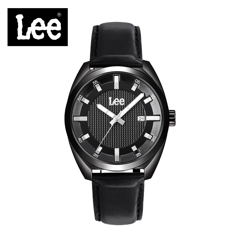 Lee Mens Top Brand Luxury Minimalist Fashion Casual Waterproof Mens Watches Genuine Leather Strap Quartz Watch Business Man M13 100% genuine disney fashion children watches for boys students captain america iron man leather watch strap luxury brand design