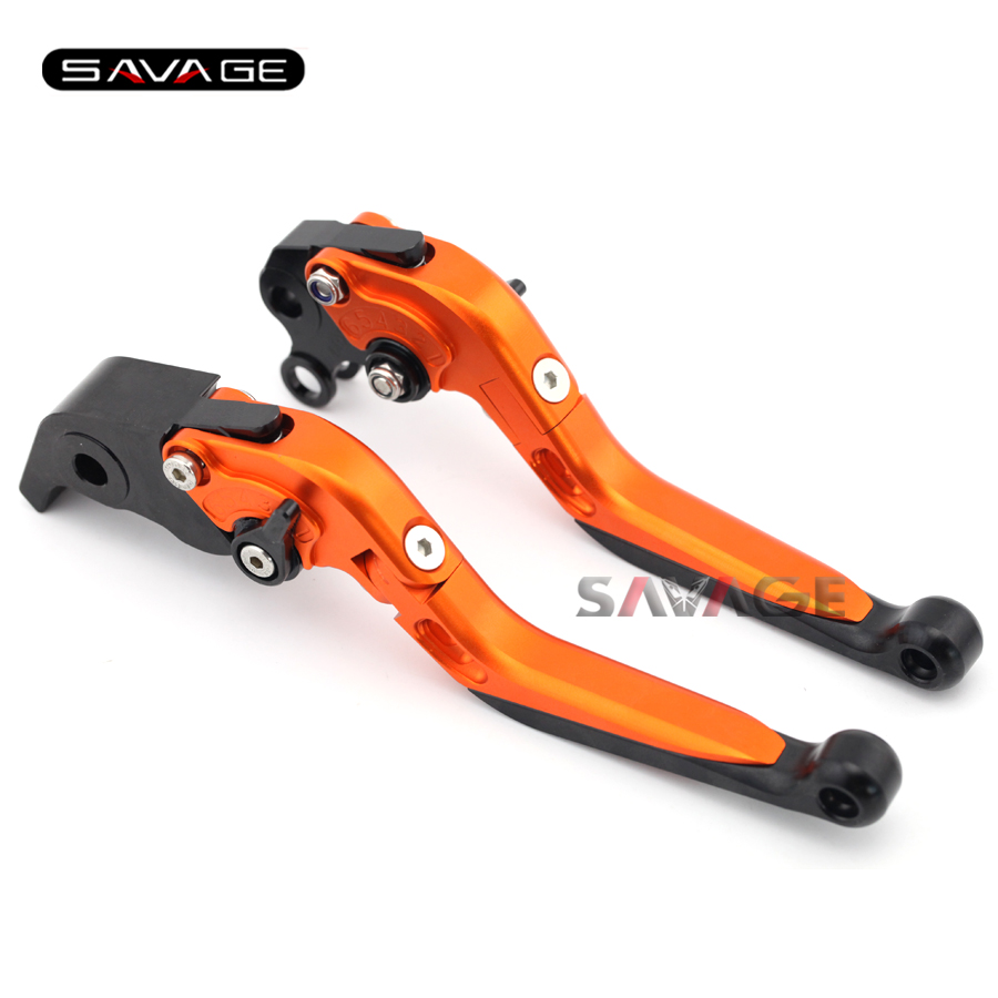 For KTM 990 SMT / Supermoto R 2008-2012 Motorcycle Accessories Adjustable Folding Extendable Brake Clutch Levers Orange