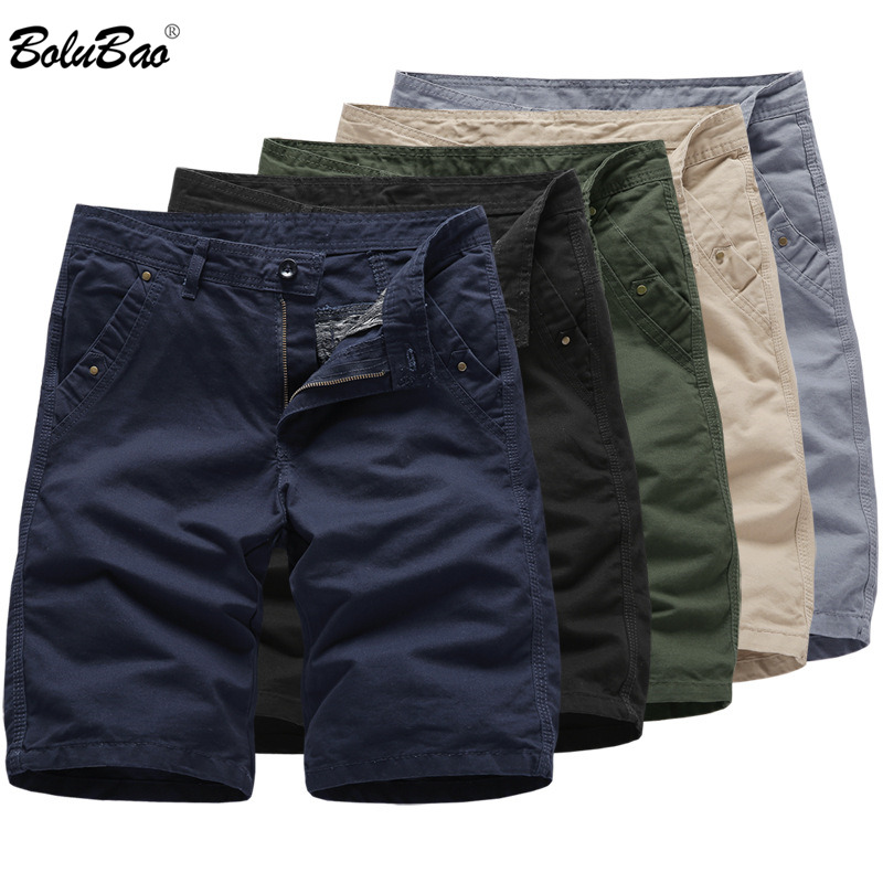 BOLUBAO 2019 Men Casual Brand Shorts Summer Fashion Comfortable Solid Color Men Shorts 100%Cotton Male Casual Shorts