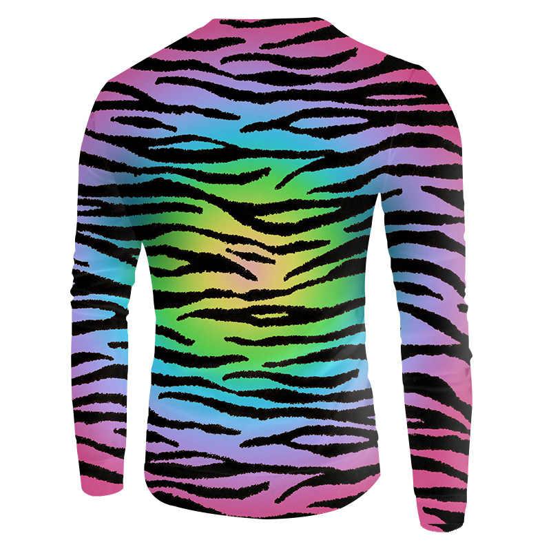 OKGB Man хип-хоп пара свитшоты Новые мужские модные принт красочные леопардовые 3D толстовки мужские с длинным рукавом Crewneck пуловеры