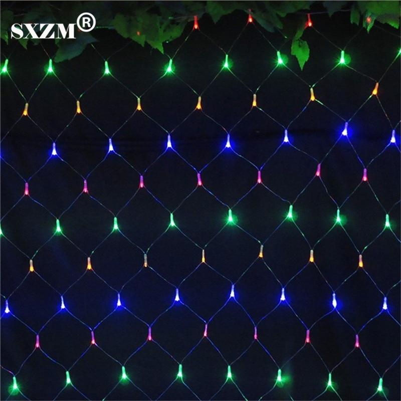 sxzm m x m led net luz de navidad de interior decoracin leds