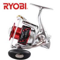 Originale RYOBI ZAUBER PRO HP bobine di pesca di filatura 8 + 1BB corpo in metallo spool maniglia di alimentazione di Acqua Salata di auto-bloccaggio maniglia