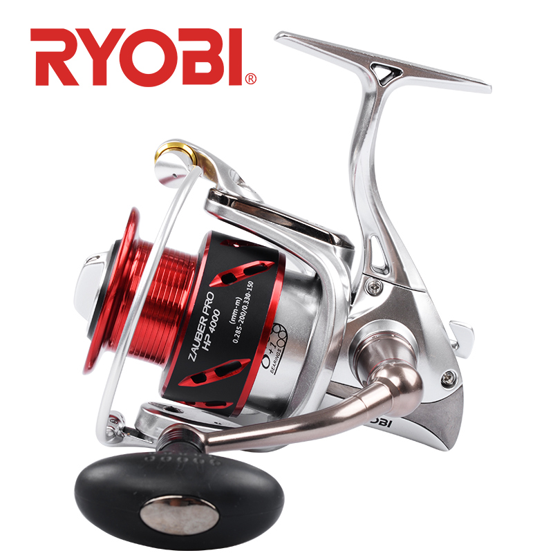 original <font><b>RYOBI</b></font> ZAUBER PRO HP fishing reels spinning 8+1BB metal body spool handle power Saltwater self-locking handle image