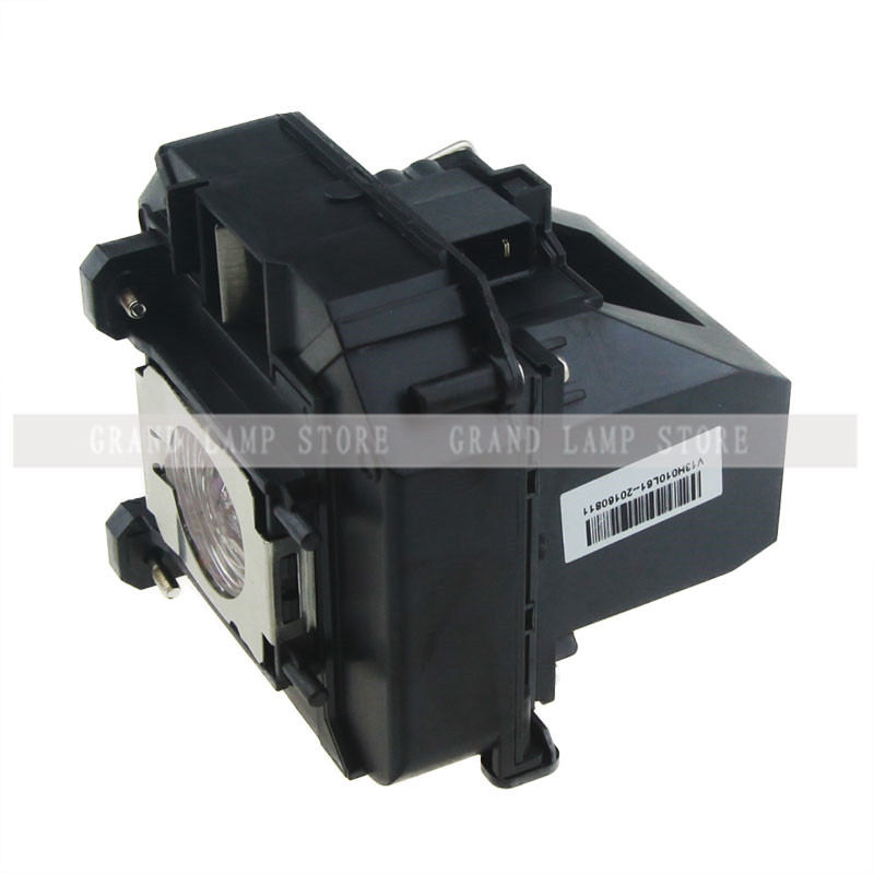 Replacement Projector Lamp ELPLP64 For EPSON EB-1840W/EB-1850W/EB-1870/EB-1880/EB-D6155W/EB-C720XN With Housing Happybate high quality projector lamp elplp64 for epson eb c720xn eb c1030wn eb c1040xn eb c45w eb c05s eb c20x eb c713x