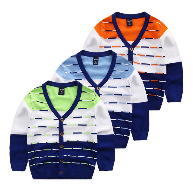 Bebé cardigan suéteres de cuello V chaqueta de 2017 niños del otoño suéter suéter de la capa niños
