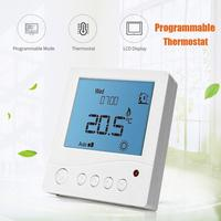 7Day Programmable Thermostat LCD Digital NTC Heater For Electric Underfloor Heating TR3100 Manual Override Memory Function