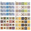 20pc 10/15/20cm DIY Mosaic Wall Tiles Stickers Waist Line Wall Sticker Kitchen Adhesive Bathroom Toilet Waterproof PVC Wallpaper 1