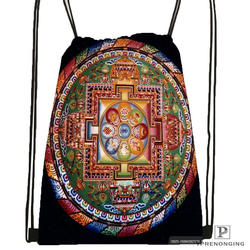 Custom Magnificent_mandala_ @1Drawstring Backpack Bag Cute Daypack Kids Satchel (Black Back) 31x40cm#180612-02-26