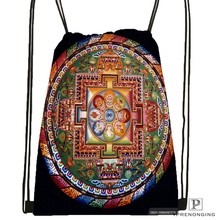 Custom magnificent mandala 1Drawstring Backpack Bag Cute Daypack Kids Satchel Black Back 31x40cm 180612 02 26