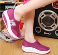 New women toning shoes comfortable fitness school shoes breathable Air mesh slimming shoes size 35-40 #D016