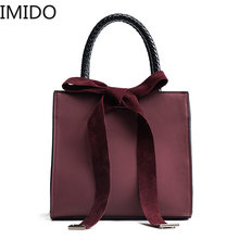 IMIDO Designer Luxury Travel Shopping Camping Bags Handbags Women Famous Brands Shoulder Bow-knot Business Motion Fashion Casual(China)