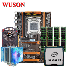 HUANAN motherboard combos X79 LGA2011 deluxe gaming motherboard processor Xeon E5 2660 V2 32G memory GTX750 2G video card